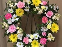Fresh floral wreaths