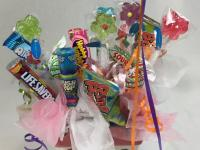 Bountiful baskets with snacks, candy, or gifts