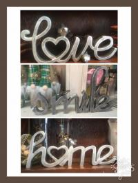 Silver Brushed Word Signs