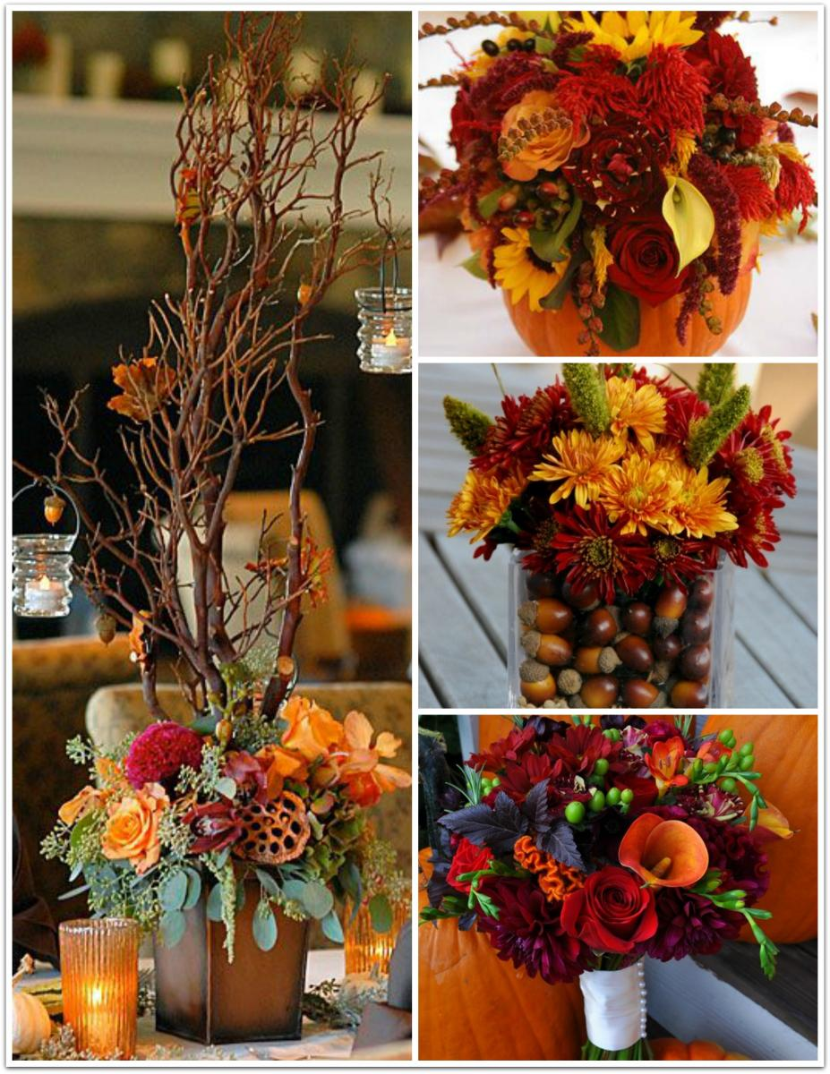 flowers for fall wedding autumn wedding themes lilygrass 4265